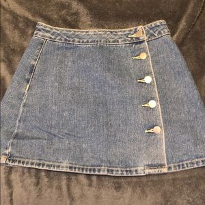 Bullhead Button Up Denim Skirt W24